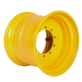 20.00-26.5 HEUVER WHEEL 281-335-10 ET-40 REINFORCED YELLOW WITH RING AND CAP